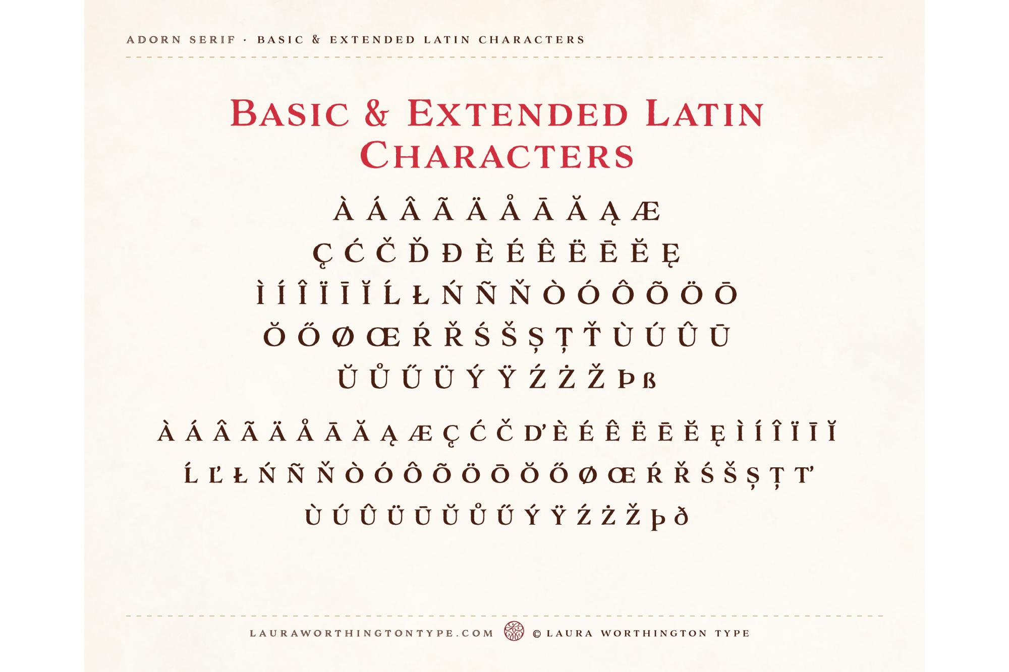 Adorn Serif example image 4