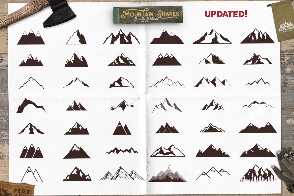 Mountain Shapes Bundle & Labels example image 8