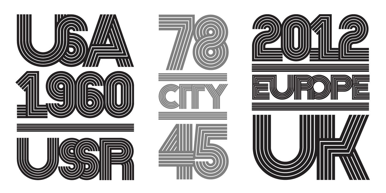 Nedo typeface layout 2
