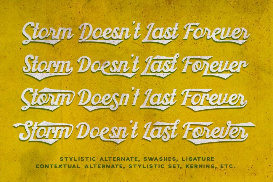 Khadija Script - 4 Fonts example image 2
