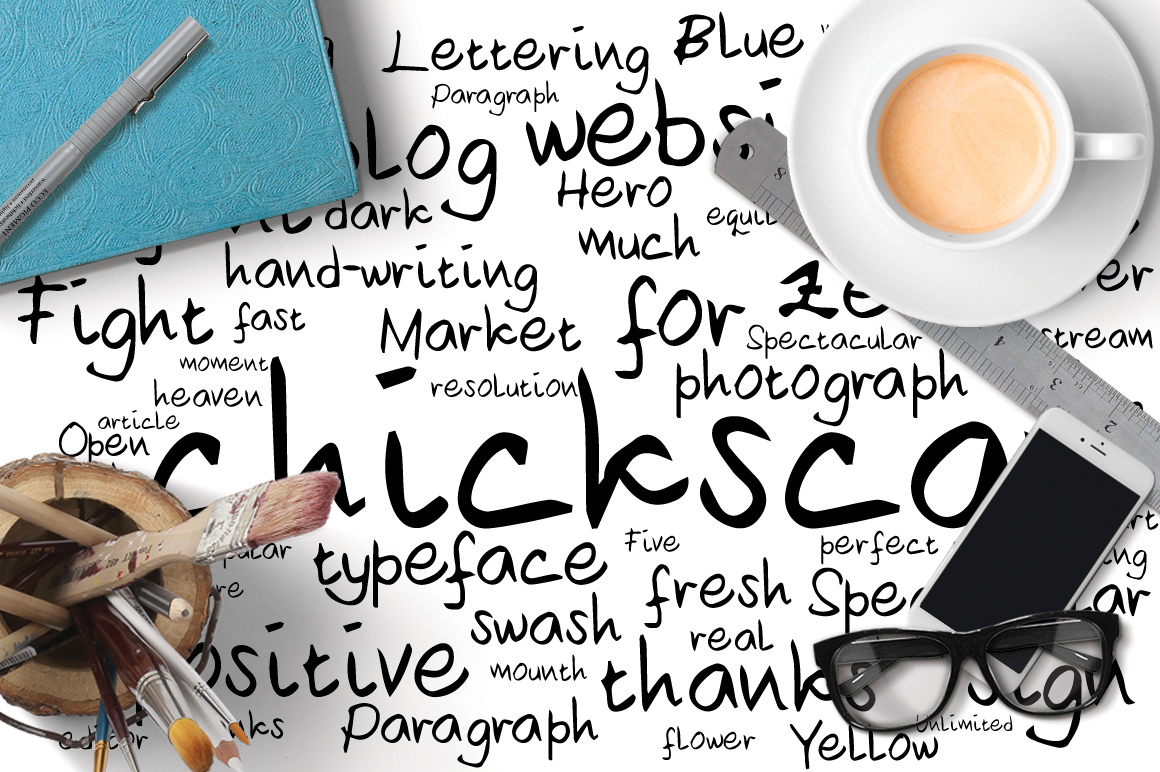 Chickscar Typeface example image 5