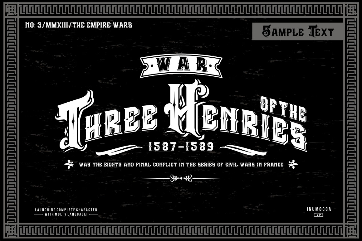 The Empire Wars (family font) example image 3