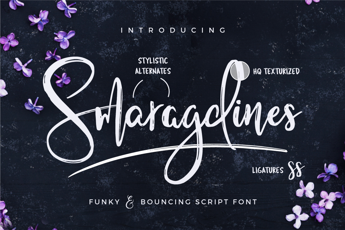 Smaragdines Font + Extras example image 1