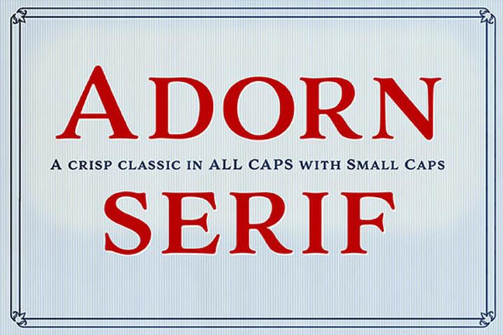 Adorn Serif example image 1