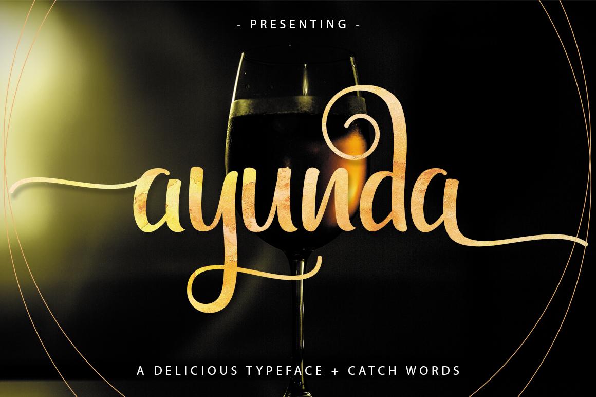 Ayunda Typeface example image 1