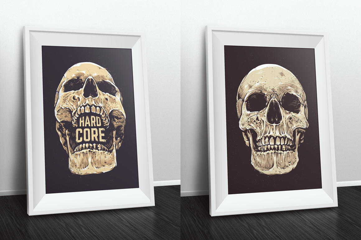 Anatomic Skulls | Vector Pack example image 10