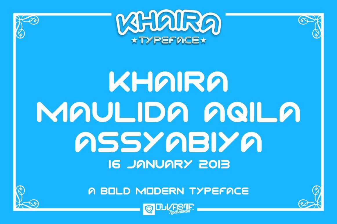 KHAIRA TYPEFACE example image 10