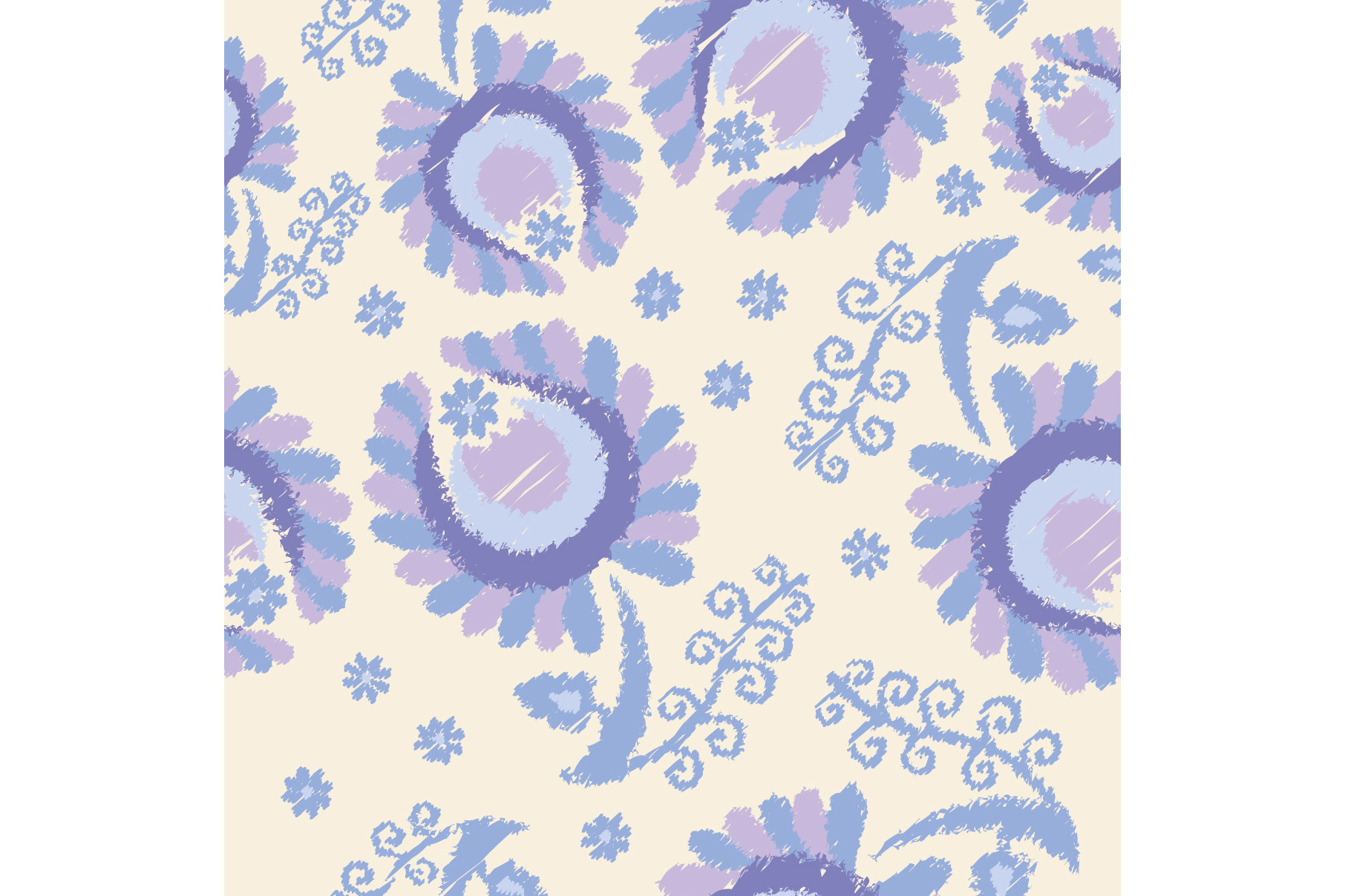Set of 12 seamless pattern with decorative flowers.  example image 11