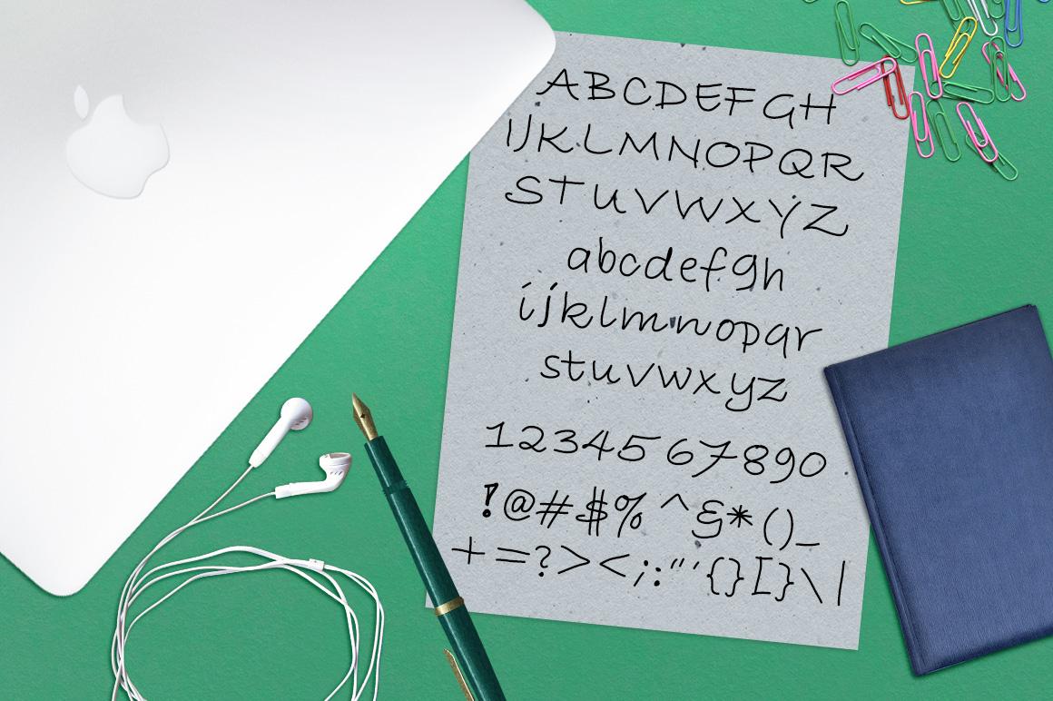 Font No.1, No.2 and No.3 example image 10