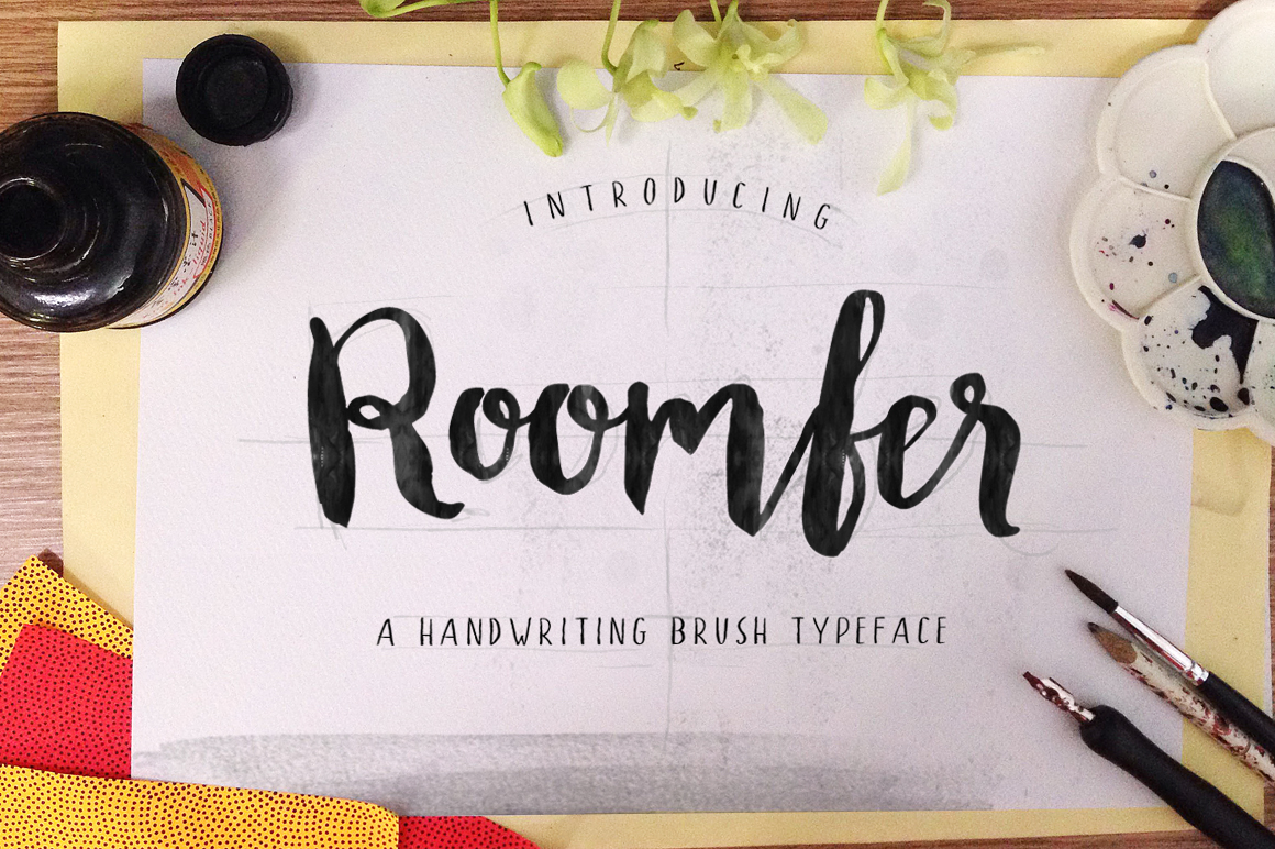 Roomfer font + Style Photoshop example image 6