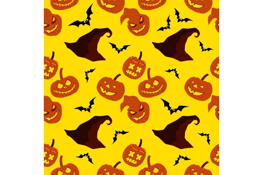 Set of 12 seamless vector backgrounds Happy Halloween.  example image 9