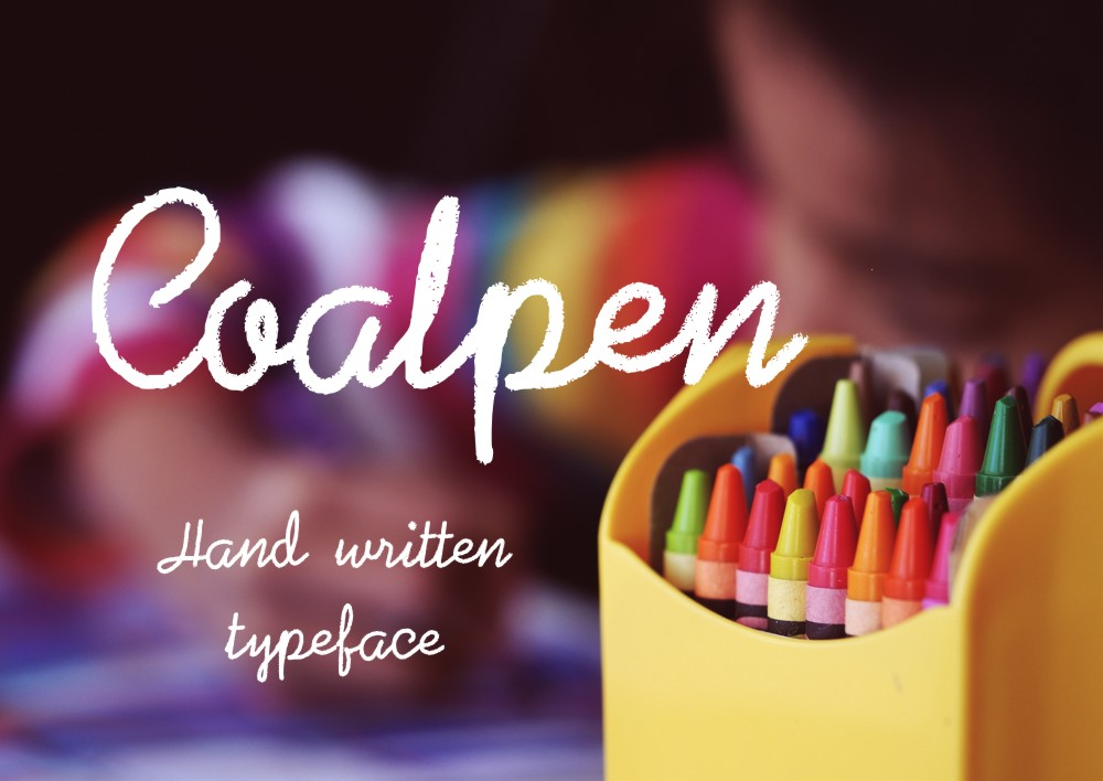 Coalpen font example image 1