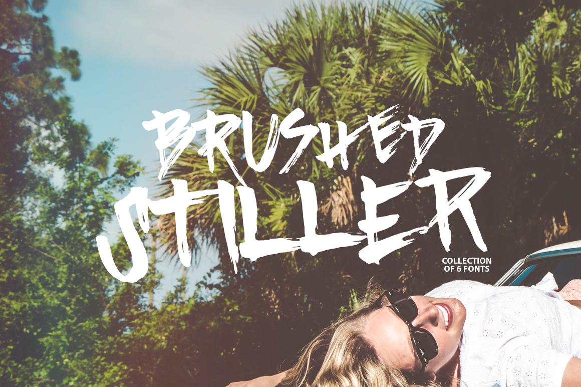 Brushed Stiller 6 Fonts example image 1