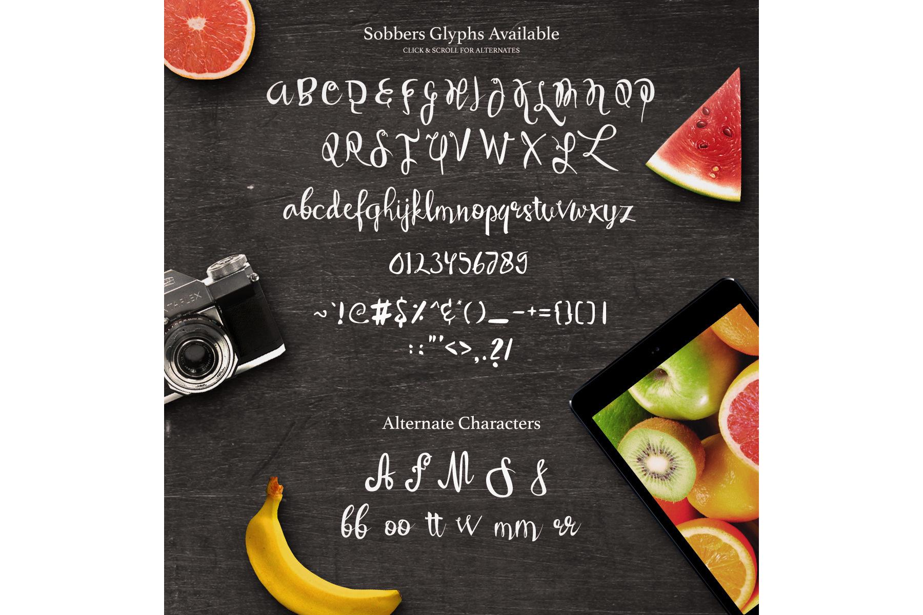 Sobbers Typeface + Swashes example image 5