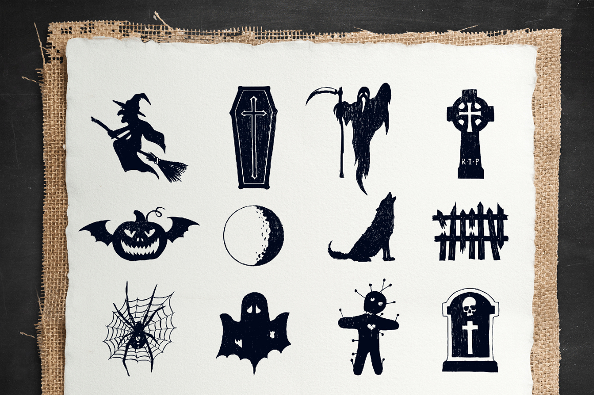 Halloween. 50 Hand Drawn Objects example image 5