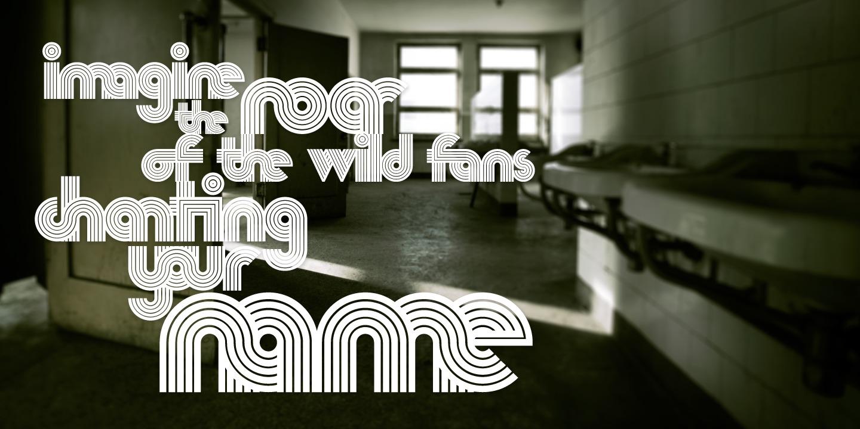 Nedo typeface layout 3