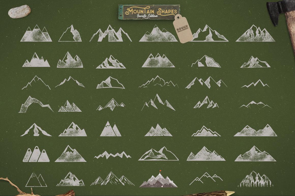 Mountain Shapes Bundle & Labels example image 9