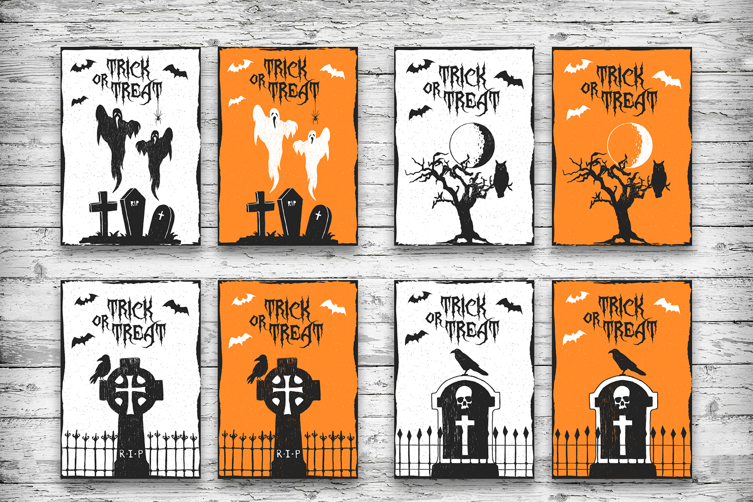 Halloween. 20 Greeting Cards example image 4