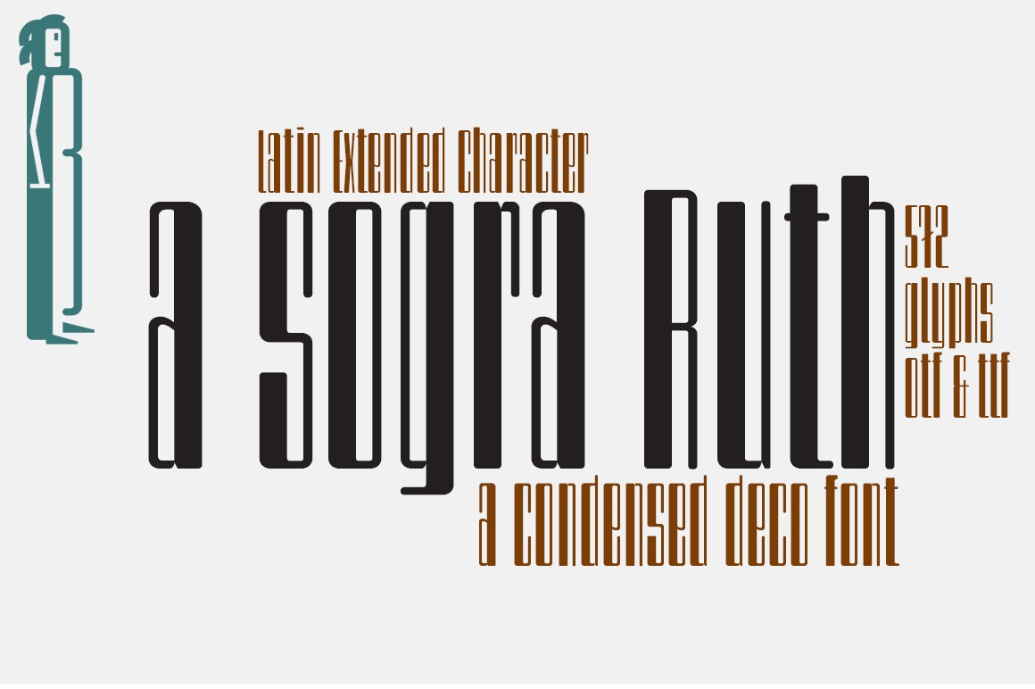 a sogra Ruth -ultra condensed font-