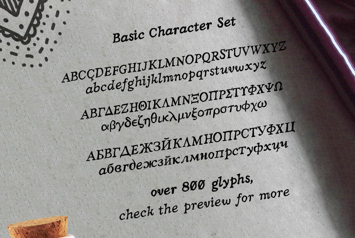 Hand crafted Latin / Greek / Cyrillic Nadira Pro example image 2
