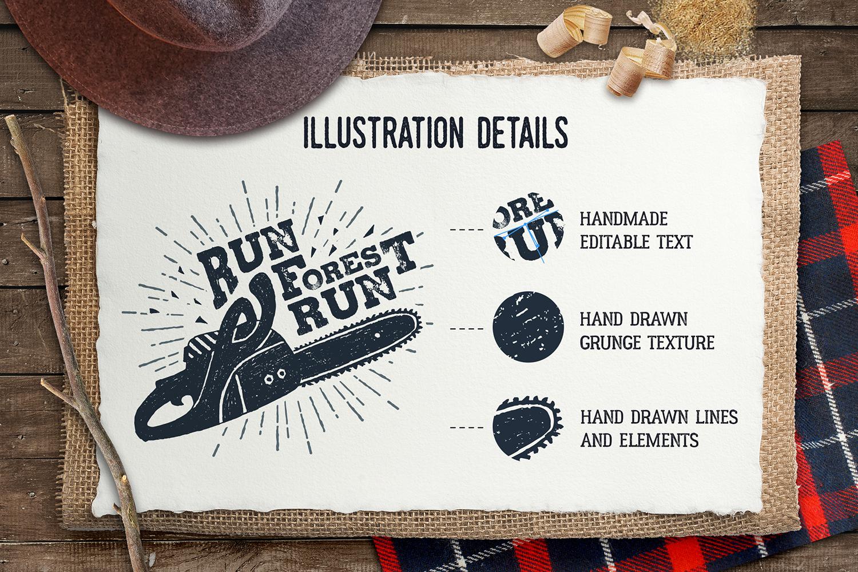Lumberjack. Vintage Badges (part 1) example image 2