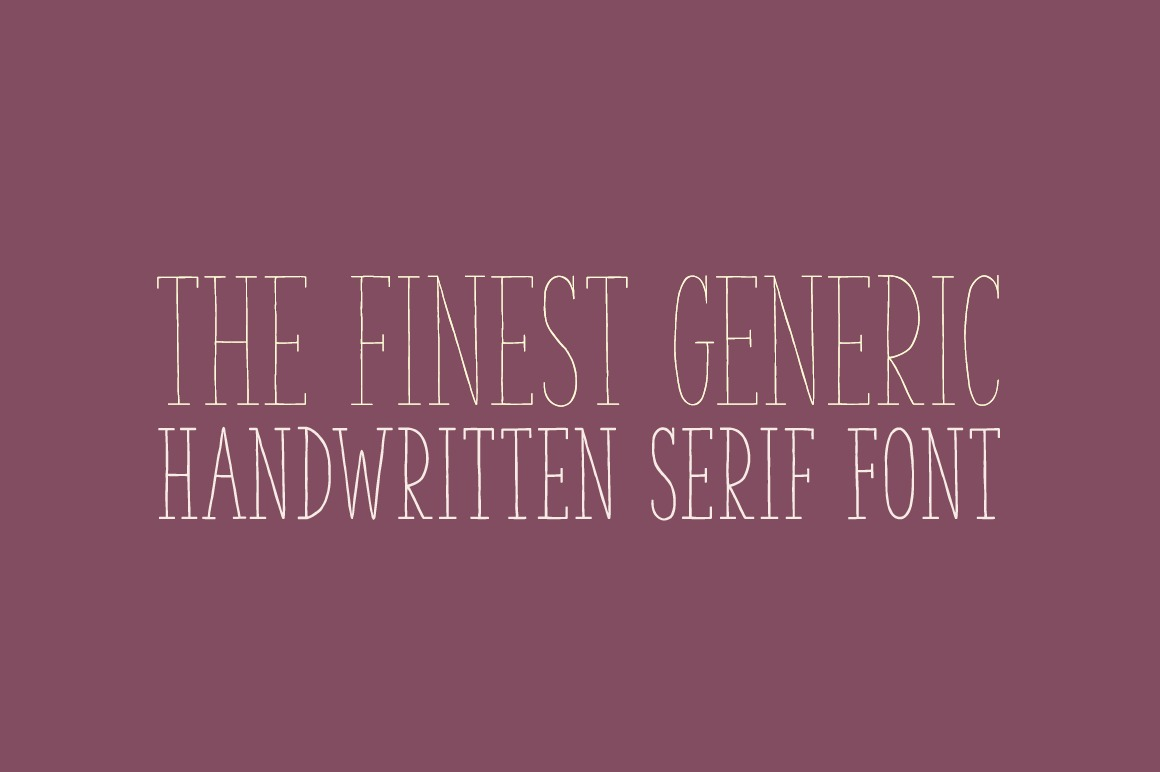 The Serif Hand Family example image 2
