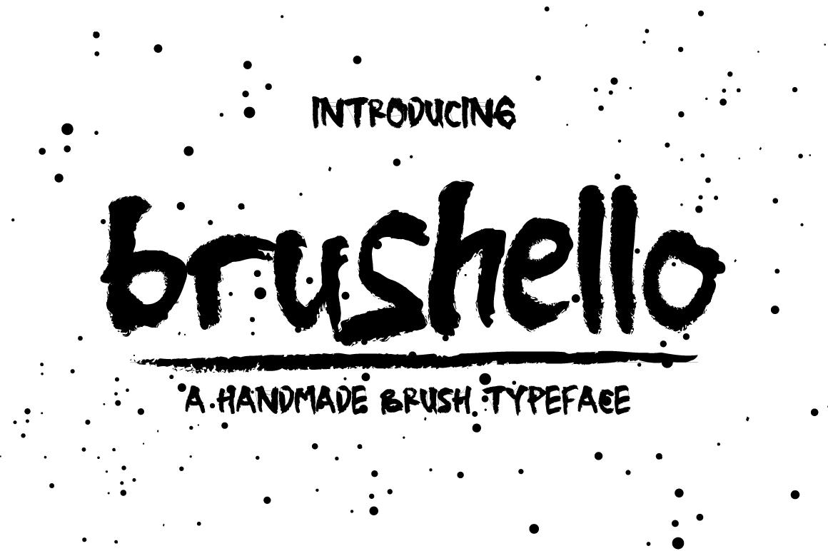 Brushello Typeface example image 1