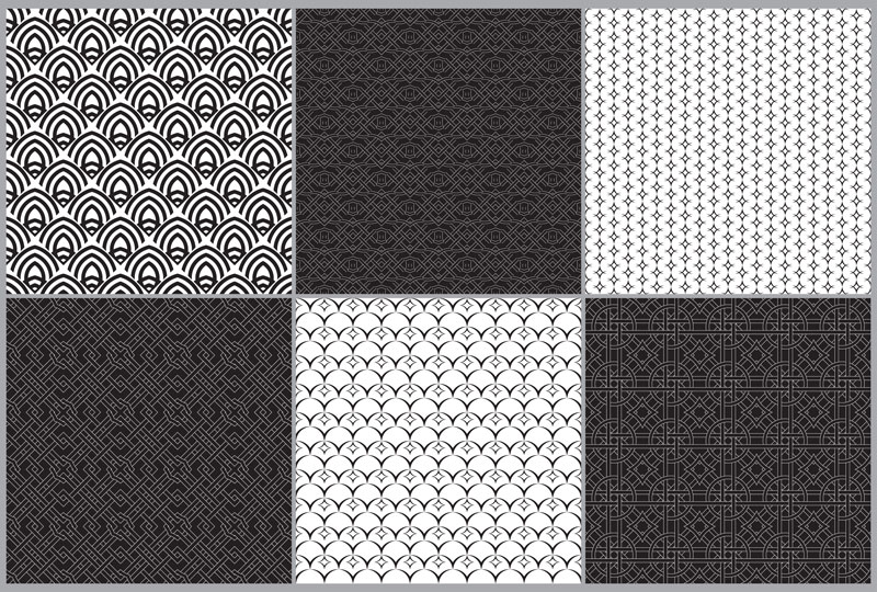 Set of seamless ornaments example image 6