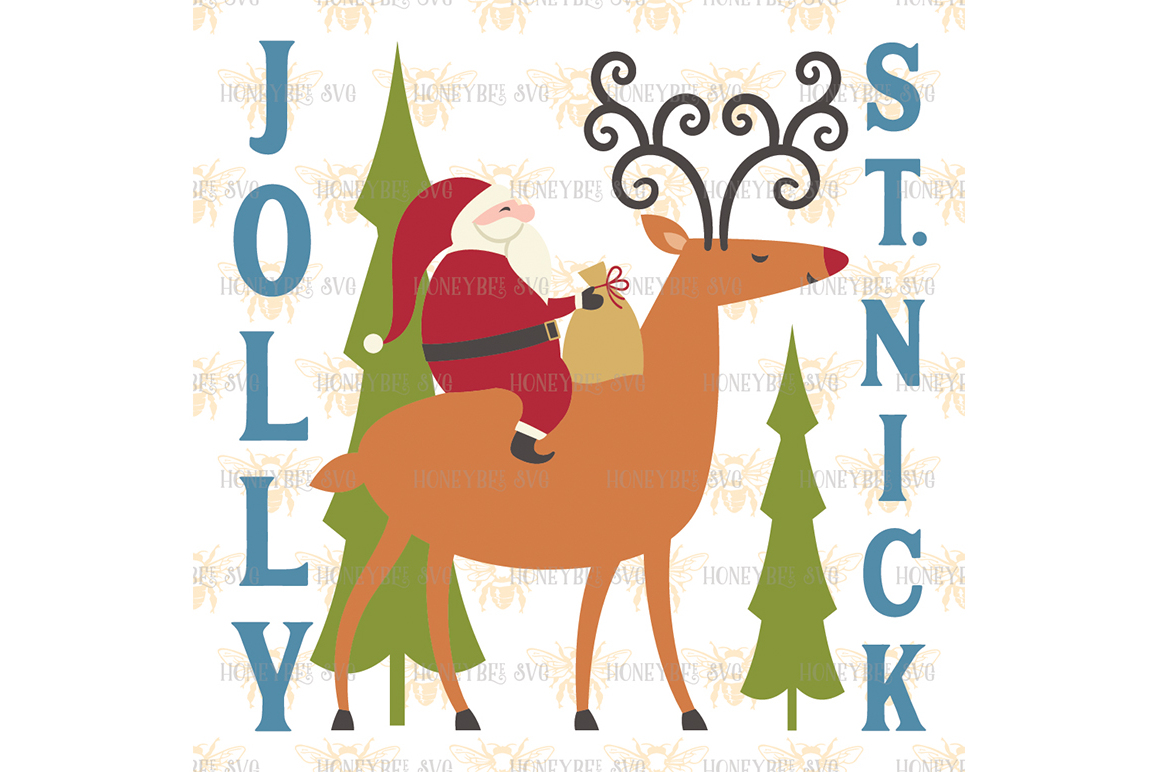 Jolly St Nick svg example image 2