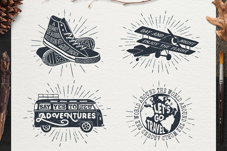 Adventure Vintage Badges (part 1) example image 3