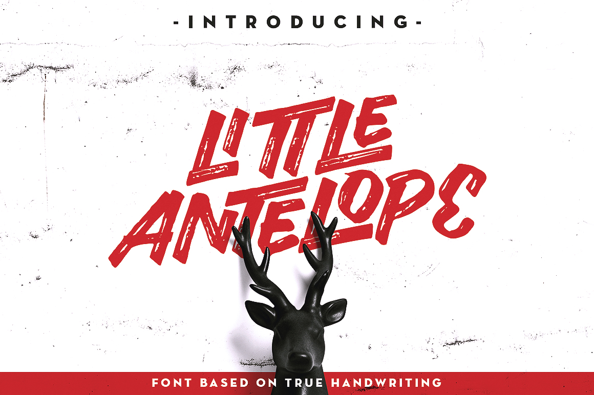 Little Antelope Font example image 1