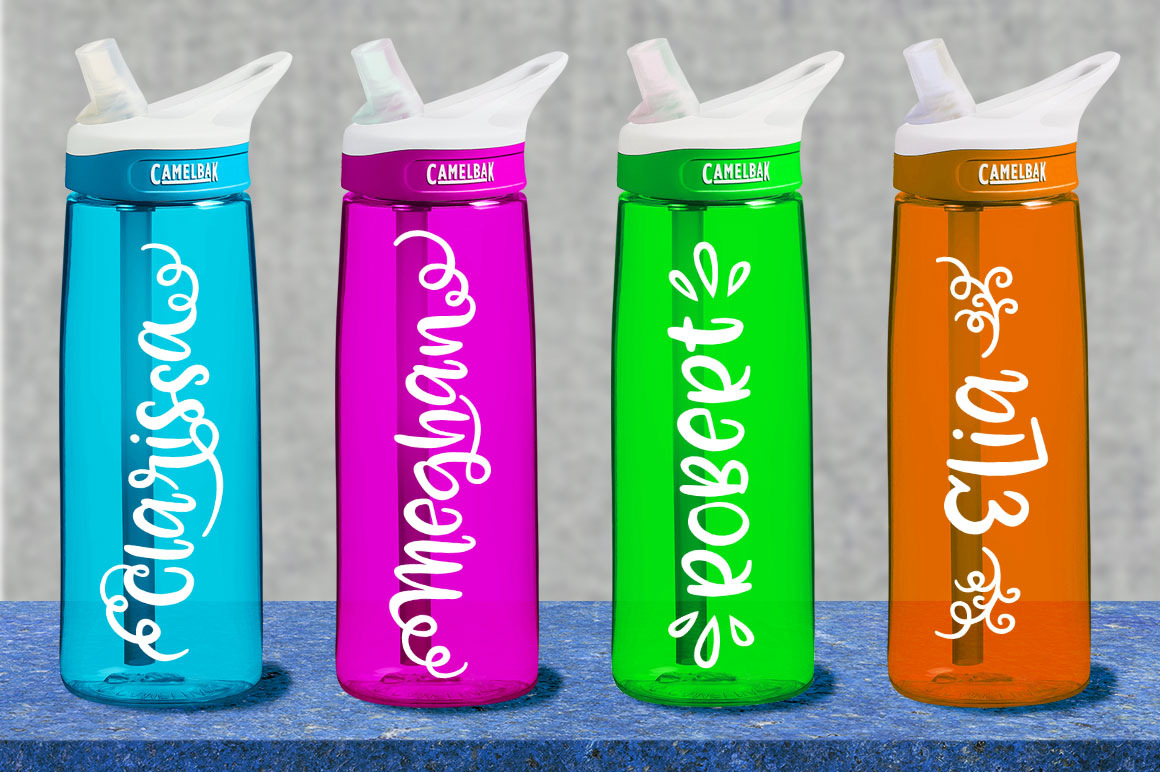 Zooky Squash - vinyl cutter water bottle mockup