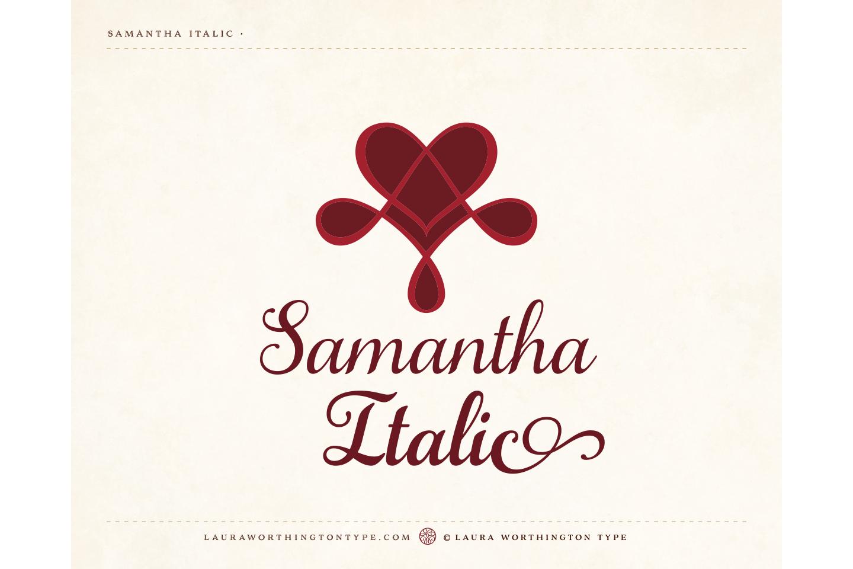 Samantha Script Italic example image 3