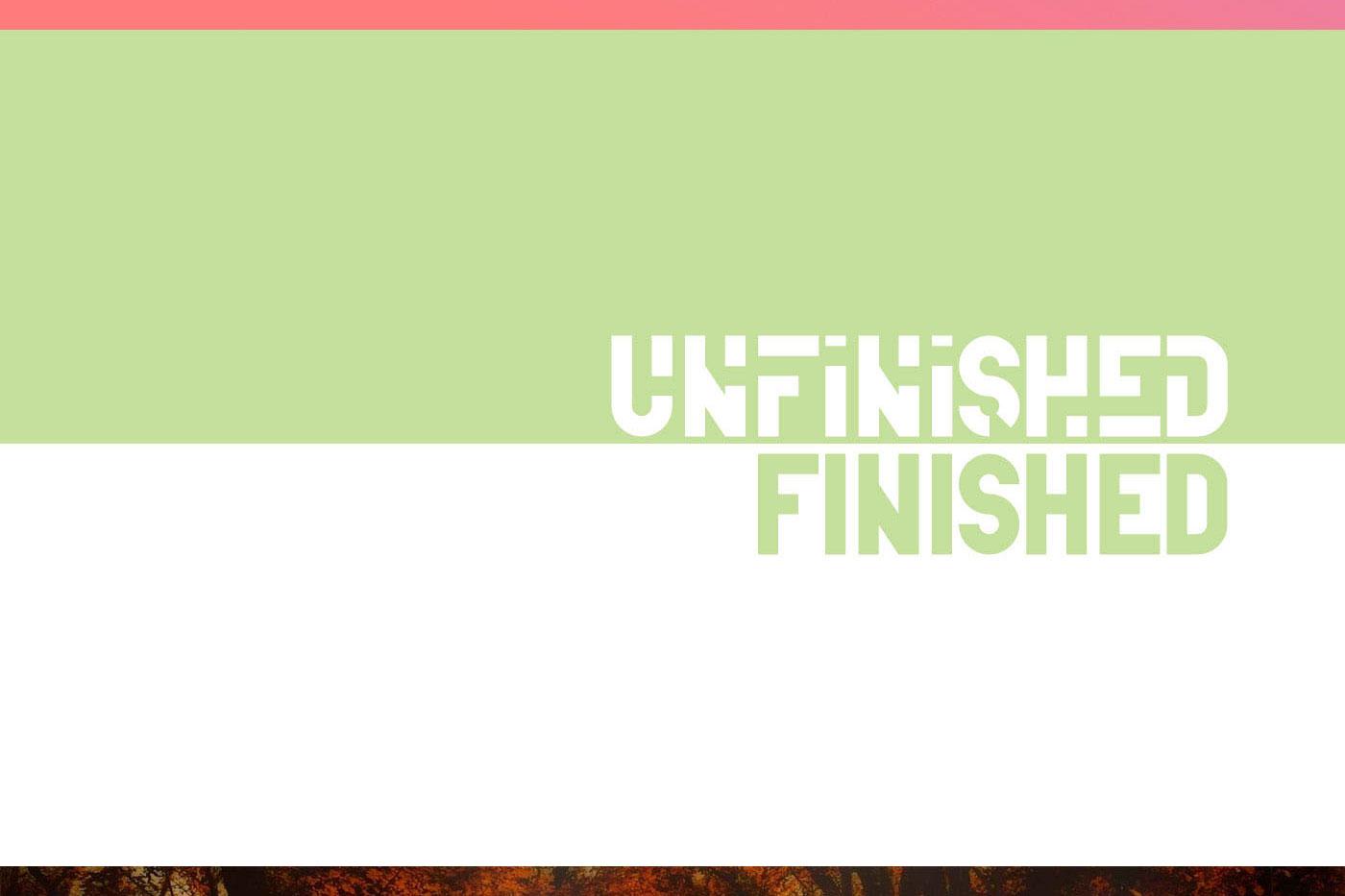 Unfinished typeface example image 6