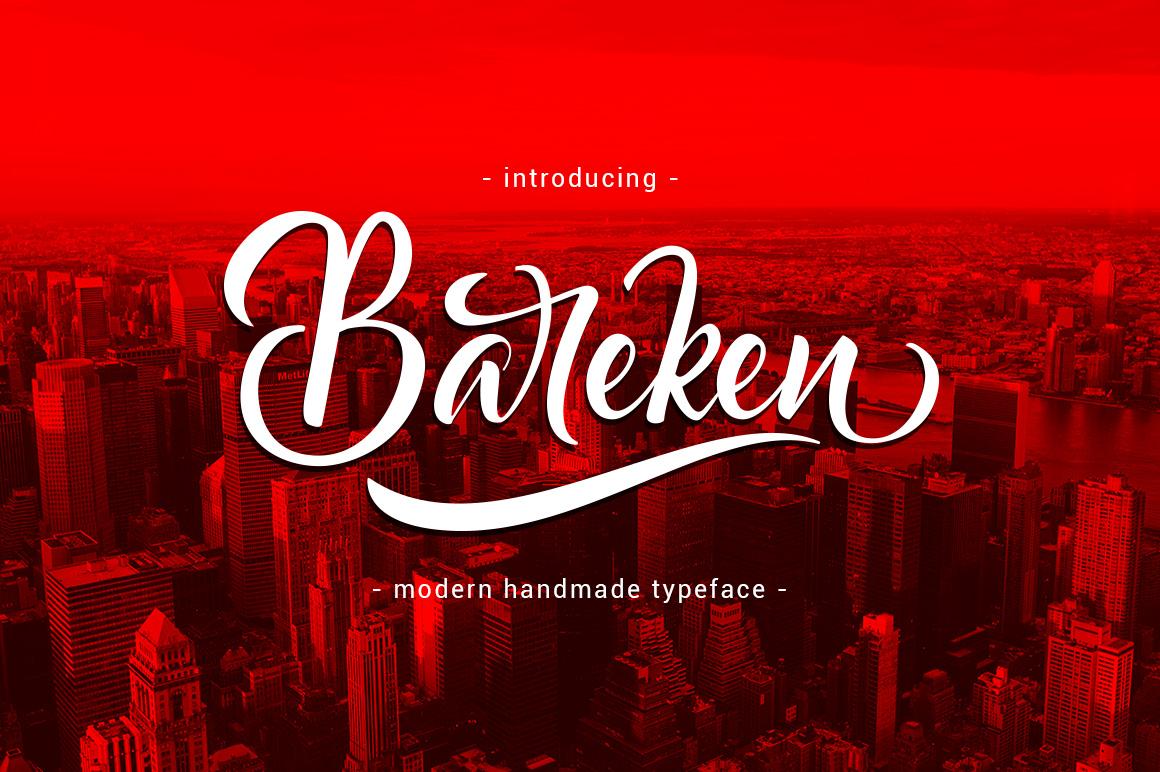 Bareken Typeface example image 1