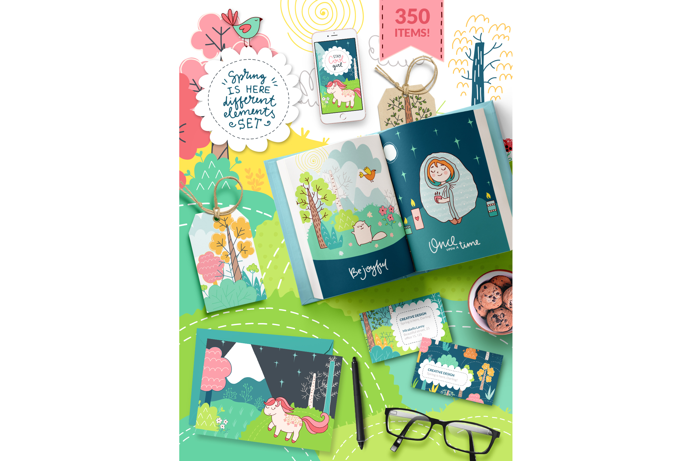 Spring is Here! Graphics & Patterns example image 19