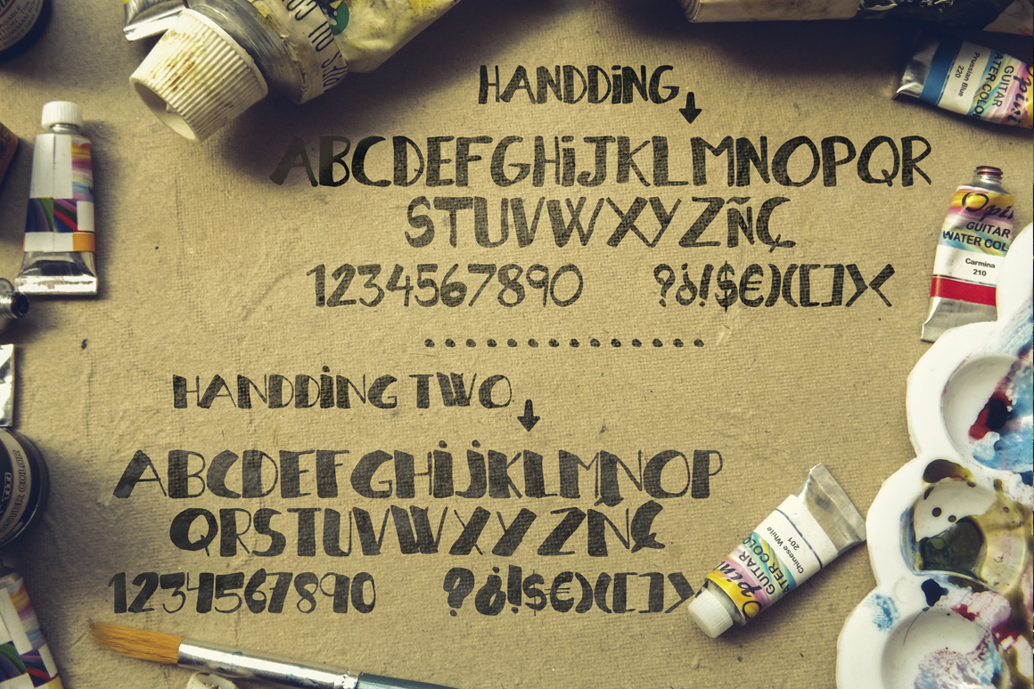 Handding Script [2 Different Fonts] example image 2