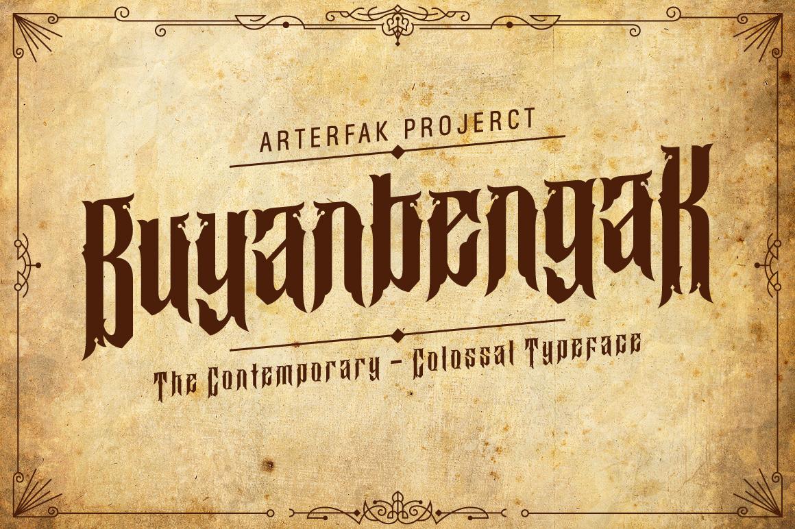 Buyanbengak Typeface example image 2