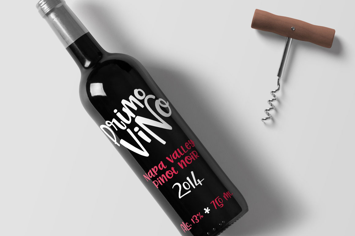 Pinsetter: wine bottle company branding mockup idea