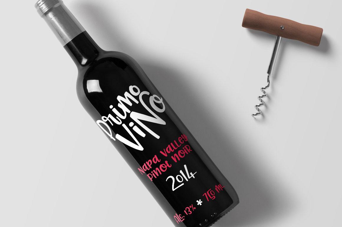 Pinsetter: wine bottle company branding mockup idea