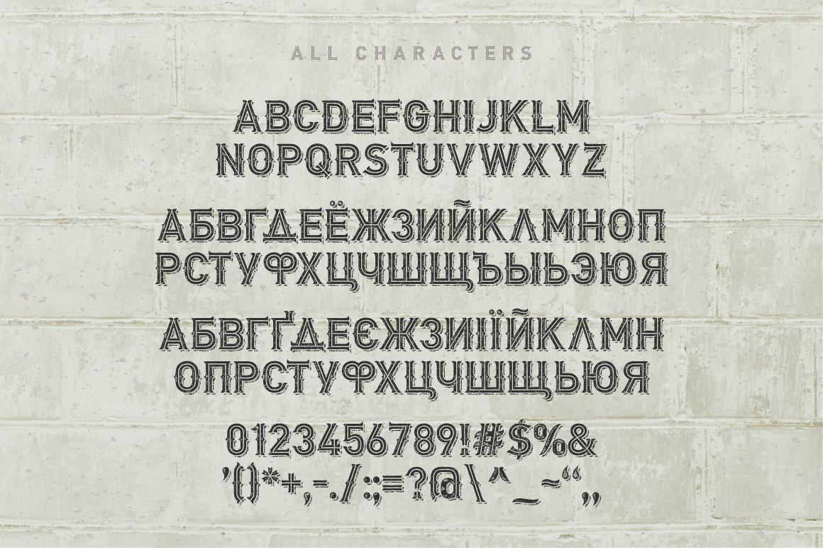 Biker Remastered font + graphics example image 4