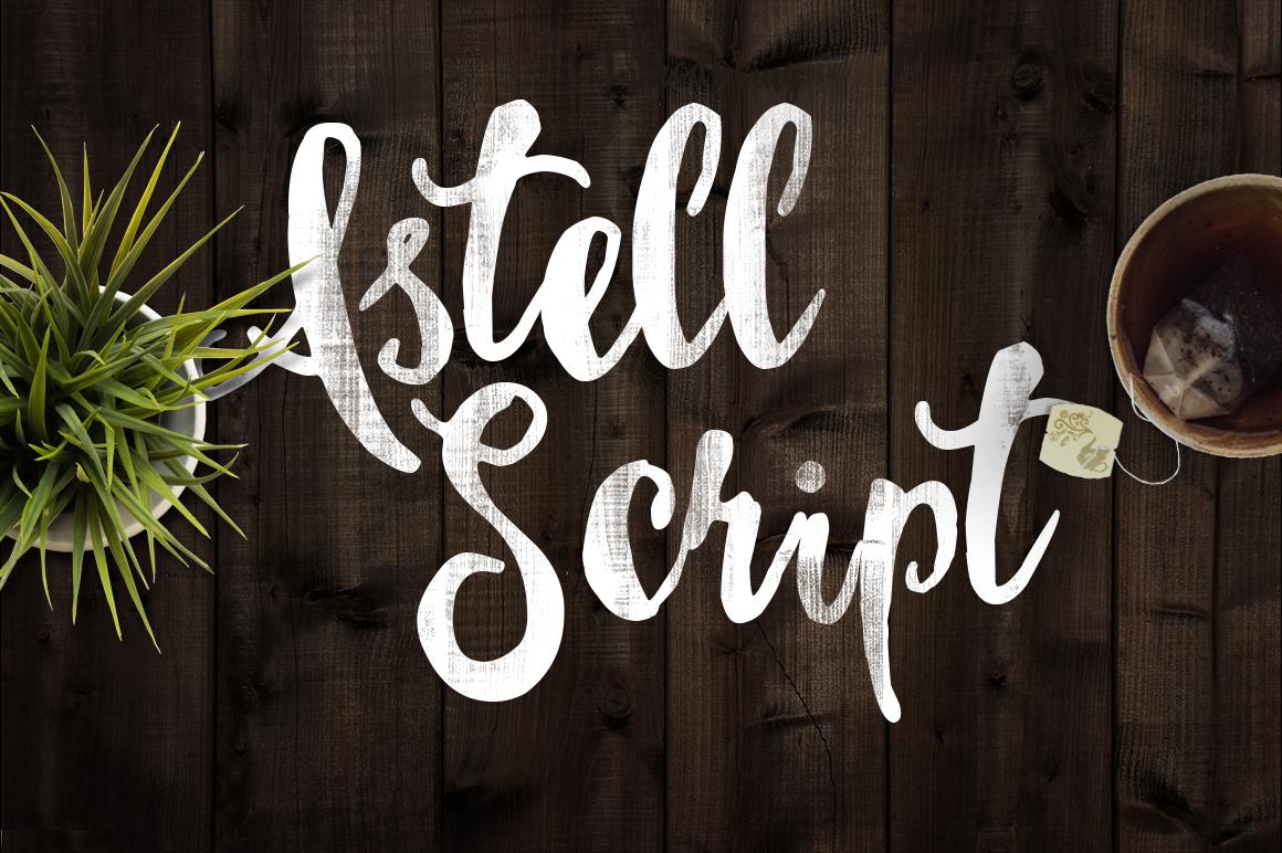Astel Script Typeface  example image 3