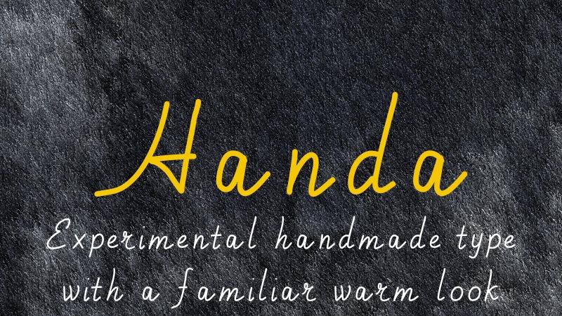 Handa font example