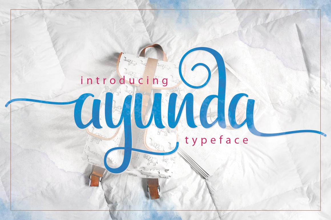 Ayunda Typeface example image 23