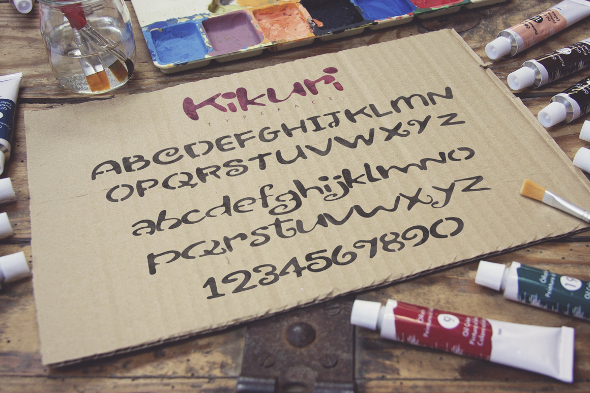 Kikuri Typeface  Extras example image 3