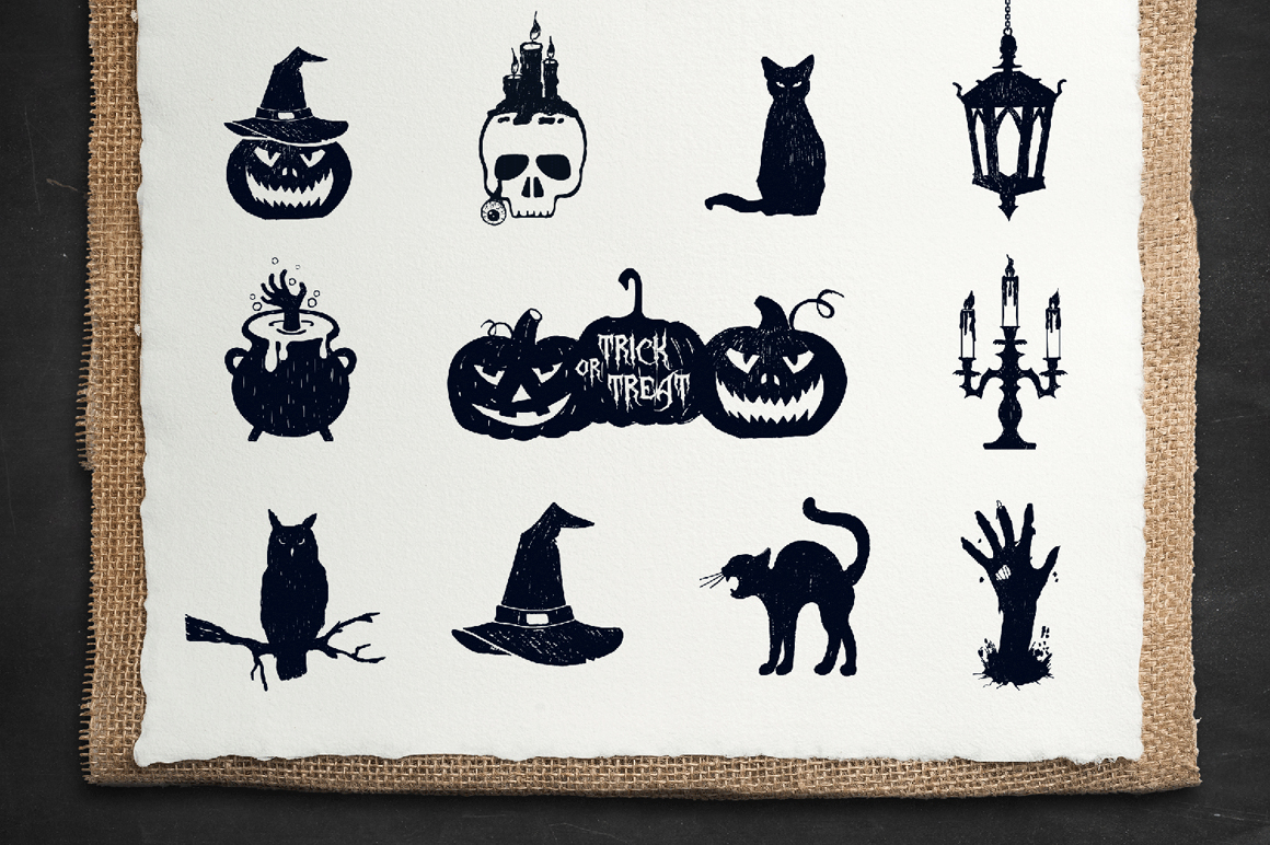 Halloween. 50 Hand Drawn Objects example image 4