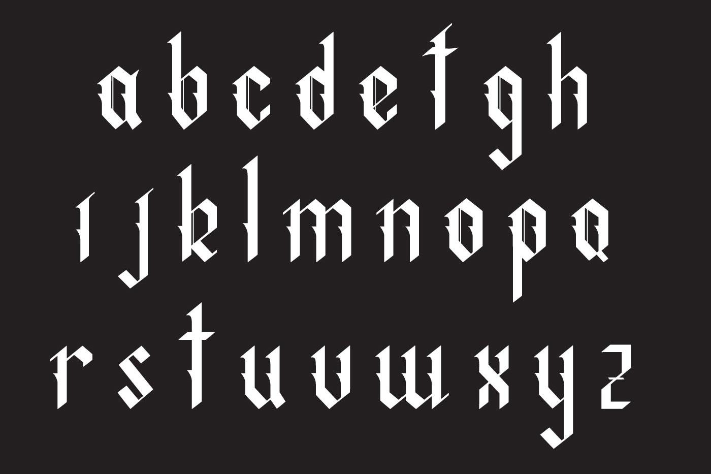 Indigo handcrafted typeface example image 3
