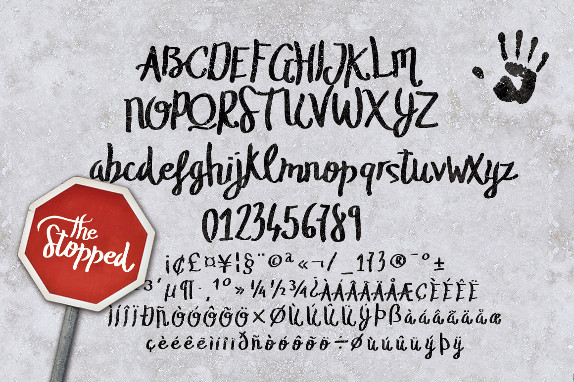 The Stopped Brush Typeface example image 2