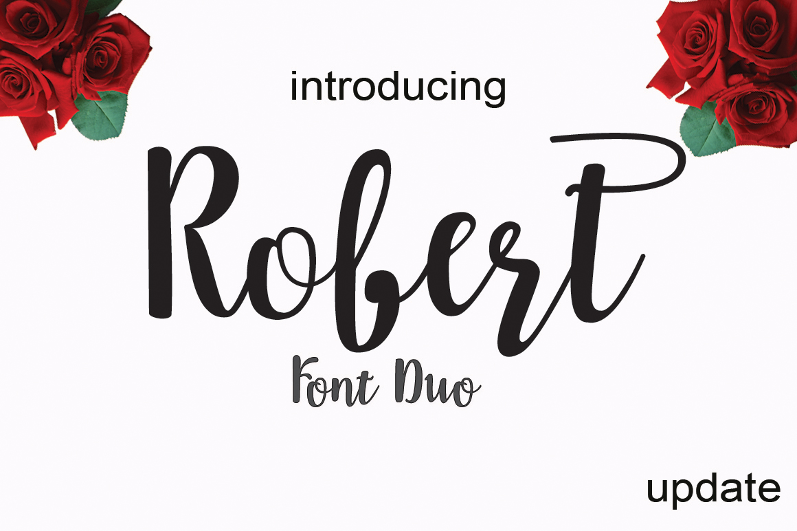 Robert update font duo example image 6