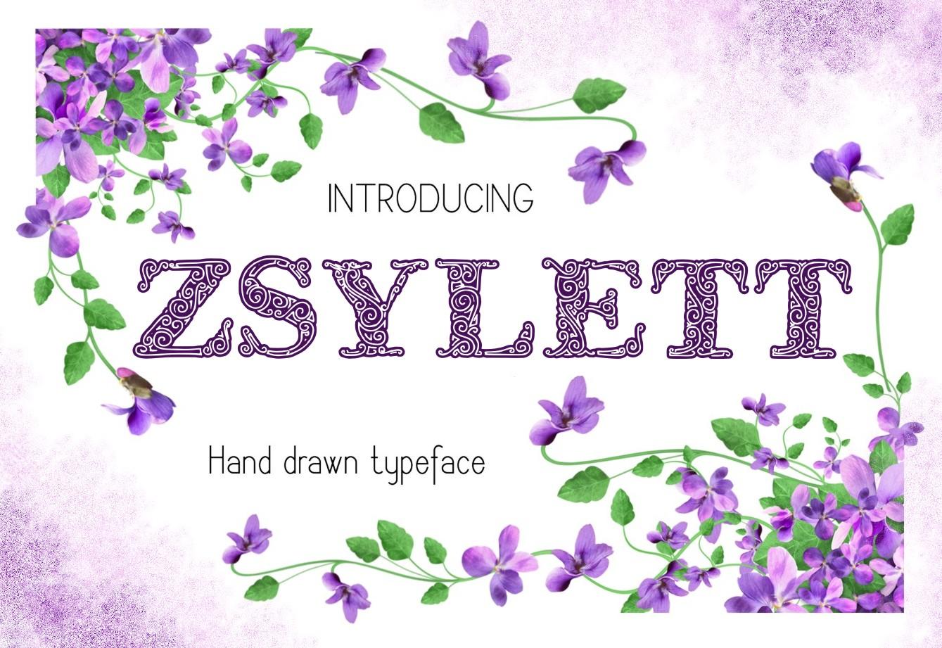 ZsylettPro decorative font example image 5
